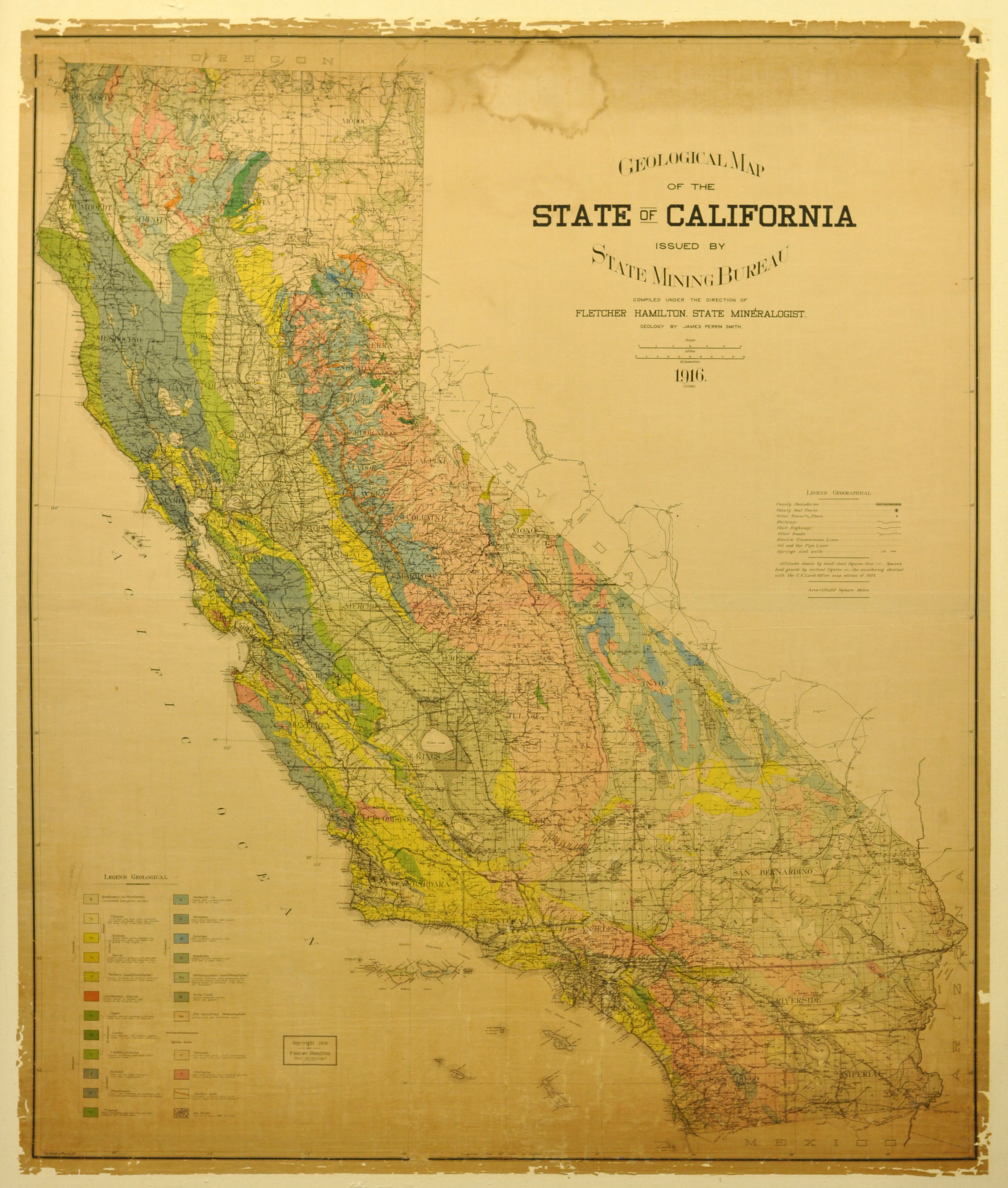 State of California Map Los Angeles